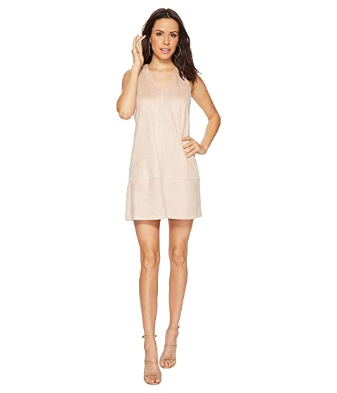 BISHOP + YOUNG Faux Suede Shift Dress, Pink