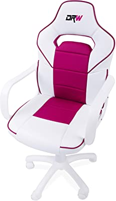 Adec - Silla gaming, sillon de estudio o despacho, modelo gamer DRW, color