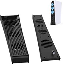 PS5 Cooling Fan, FANPL Cooling Station for Sony Playstation 5 Digital Edition & Ultra HD Console with 3 Cooling Fans and U...