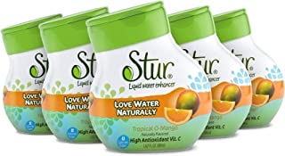 Sponsored Ad - Stur - Orange Mango, Natural Water Enhancer, (5 Bottles, Makes 100 Flavored Waters) - Sugar Free, Zero Calo...