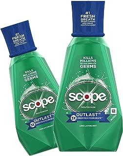 (2 Pack) Scope Mouthwash, Outlast, Long Lasting Mint, 33.8 oz. ea.