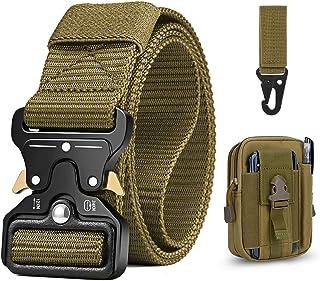 Bestkee, cintura tattica da uomo da 1,5 pollici, cintura in nylon con fibbia in metallo a sgancio rapido, regalo con sacch...