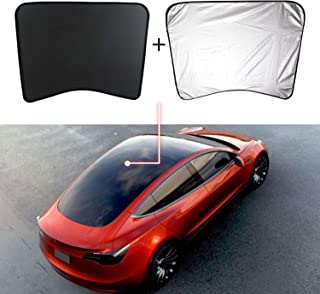 Mixsuper Model 3 Rear Glass Roof Sunshade Sunroof UV Rays Block Shade Window Shade with Heat Insulation Sunshade for Tesla Model 3