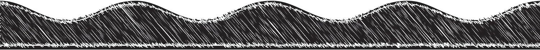 Save money Award-winning store ASHLEY PRODUCTIONS Big Magnetic Black Border Scallop