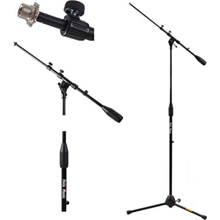 Hola! Music Mic Stand w/ Adjustable Height for Home, Studio, Office or Stage Use -Standard Clutch Single Unit