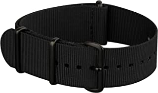 INFANTRY 20mm 22mm NATO Watch Strap Nylon Canvas Fabric Zulu Watch Band 4 Rings Stainless Steel Buckle