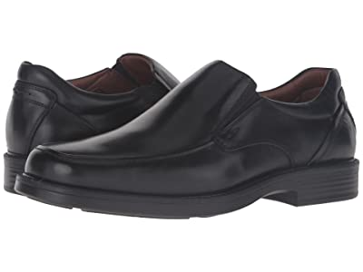 Johnston & Murphy Waterproof XC4 Stanton Moc Toe Slip-On (Black Waterproof Calfskin) Men