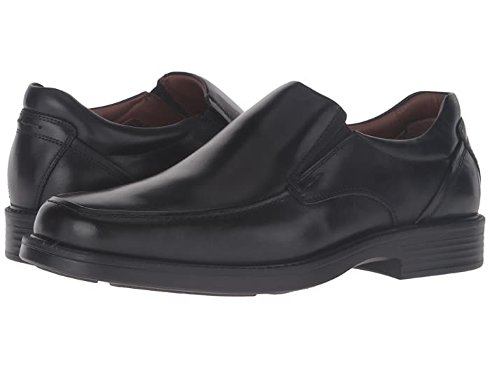 Johnston and Murphy  Waterproof XC4 Stanton Moc Toe Slip-On (Black Waterproof Calfskin) Mens Slip-on Dress Shoes