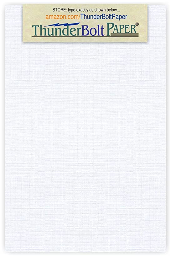 250 Bright White Linen 80# Cover Paper Sheets - 3 X 5 Inches Index|Recipe Card|Photo|Frame Size - 80 lb/Pound Card Weight - Fine Linen Textured Finish