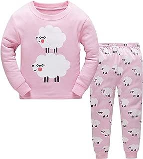 Little Girls Pajamas Sets Toddler Christmas PJS 100% Cotton Long Sleeve Giraffe Sleepwear Size 2-7