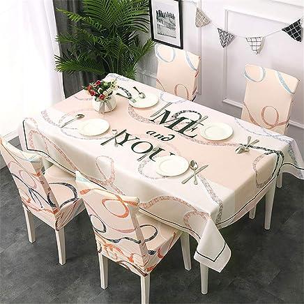 5f70d38bb5 QWEASDZX Tovaglia Cotone e Lino Piccolo Fresco Stampa Digitale Tovaglia  Rettangolare Riutilizzabile Multifunzione Chair Cover 140x210cm