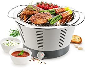 Tescoma Party Time Grill, roestvrij staal, grijs, 41,5 x 36,5 x 22,5 cm