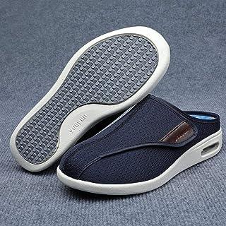 B/H Pantoufles diabétiques,Pieds enflés, Chaussures Demi-Drag pour Les Personnes âgées, Chaussures pour Pieds diabétiques-...
