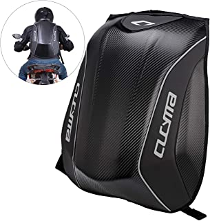 INNOGLOW Motorcycle Backpack 30L Hard Shell Air Flow Track Riding Back Pack Stealth No Drag Molded Black
