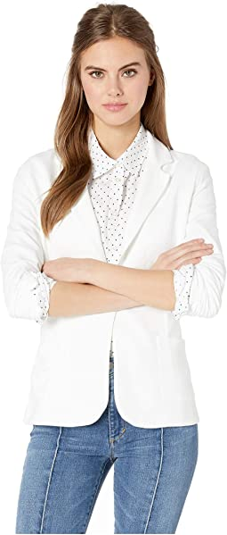 French Terry Long Sleeve One-Button Blazer