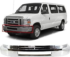 MBI AUTO - Chrome Steel, Front Bumper Face Bar for 2008-2016 Ford Econoline E150 E250 E350 Super Duty E450 Super Duty Van, FO1002410
