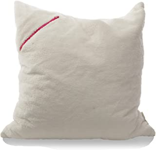 mimish Storage X-Large Floor Pillow - Storage for Books, Remotes, Tablets and More - Sherpa, Vanilla Bean