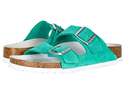 Birkenstock Zappos 20th x Arizona Hex (Green Suede) Women