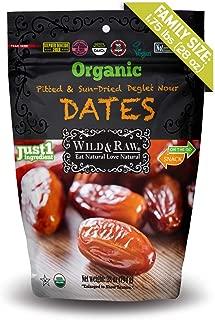 ORGANIC DATES - BULK SIZE - 28oz - Kosher Non-GMO Sun Dried Pitted Deglet Nour Dates