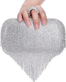 ClearloveWL Abendtasche Damen, Quaste Diamanten Abendtaschen Fingerring Kleine Kupplungskette Schulter Eine Seite Strassst...
