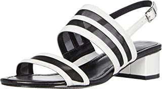 Bandolino Footwear Women's Block Heel Sandal Heeled, White, 8