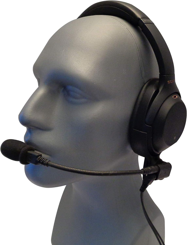Micrófono Jet para Airbus con WH-1000XM3 - Auriculares compatibles con Sony WH-1000XM3