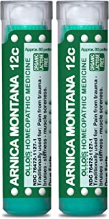 OLLOIS Arnica Montana 12c Organic, Lactose-Free Homeopathic Medicine for Pain, Trauma, Bruising- Pack of 2, 160 Count