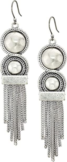 Chain Bead Fringe Earrings