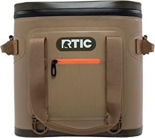 RTIC Insulated Soft Cooler Bag, Leak Proof Zipper, Keeps Ice Cold for Days, 20