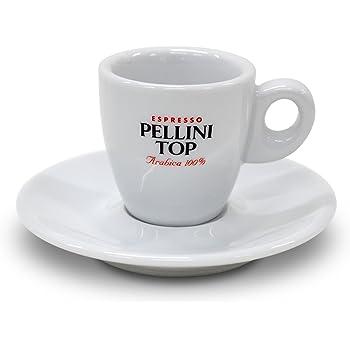 Pellini エスプレッソカップ ヌオバ 1客 ソーサー付き 白 PLESCP1