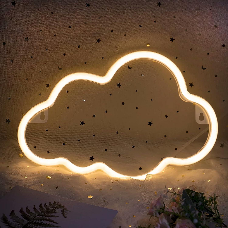 Cloud Light, Aesthetic Bedroom Decor ifreelife Cloud Neon Signs Led Cloud Lights Trendy Room Decor Aesthetic Light up Wall Decor Neon Lights Cool Stuff for Teen Girl Room,Kid Boy Idea Gifts,Bar,Party