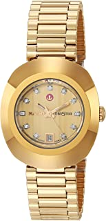 DiaStar Original Swiss Automatic Watch with Stainless Steel Strap, Gold, 21 (Model: R12416633)