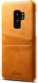 Galaxy S9 Leather Case,TACOO Super Slim Fit Soft Pu Protective Two Credit Card Slots Ultra Thin Phone Back Cover for Samsung Galaxy S9 2018