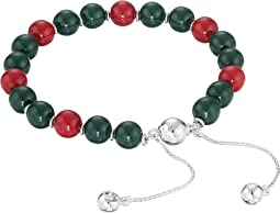 Gucci Boule Britt Bracelet w/ Red and Green Wooden Beads