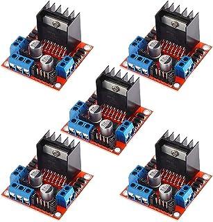 Aideepen 5PCS L298N Dual H Bridge DC Stepper Motor Drive Controller Board Module for Arduino