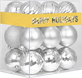 Best GameXcel 18Pcs Christmas Balls Ornaments for Xmas Tree - Shatterproof Christmas Tree Decorations Large Hanging Ball Silver3.2 x 18 Pack Review