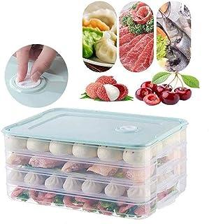 Conteneur de grain Multi-Layer Réfrigérateur Conteneur boîte en plastique alimentaire Dumplings Airtight Accueil Organisat...