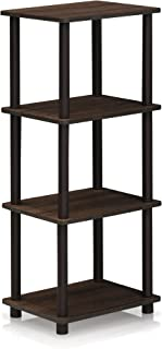 FURINNO Turn-N-Tube Shelf, 3 Space, Walnut/Brown