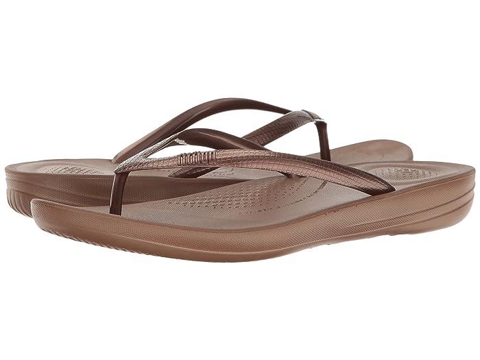 FitFlop  Iqushion Ergonomic Flip-Flop (Bronze) Womens Sandals