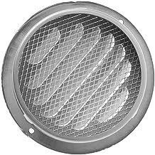 1 stks Hoge Kwaliteit Roestvrij staal Buiten Muur Air Vent Grille Ronde Ducting Ventilation Grilles (Color : 100mm)