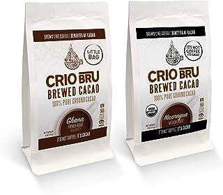 Crio Bru 2 Pack 4 oz Little Bag Ghana Bundle | Organic Healthy Brewed Cacao Drink | Great Substitute to Herbal Tea and Cof...