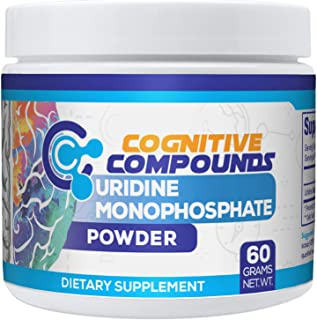 Uridine Monophosphate Powder - May Improve Mood & Cognitive Function Support - 60 Grams - Cognitive Compounds
