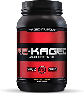 Post Workout Protein Powder, RE-KAGED Whey Protein Powder,Orange Kream - (packaging may vary)
