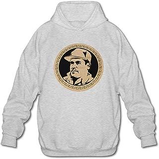 Mens Sportswear Drawstring Hoodie Sweatshirt,El Chapo Guzman Currency Ash