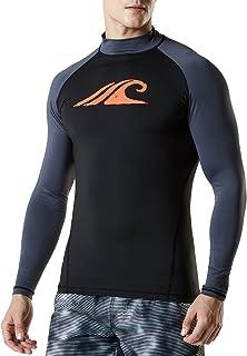 (テスラ)TESLA 長袖 水着 ラッシュガード パーカー tシャツ [UVカット UPF50+・吸汗速乾] スイムウェア メンズ (1サイズ ダウン)