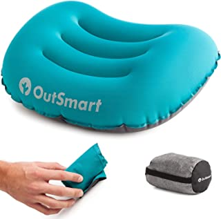 Outsmart Inflatable Camping Pillow | Waterproof, Lightweight and Comfortable Outdoor Pillows for Hiking, Backpacking, Camp...