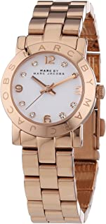 4611f2cef Marc Jacobs Women's Quartz Watch with White Dial Analogue Display and Rose  Gold Stainless Steel Bangle