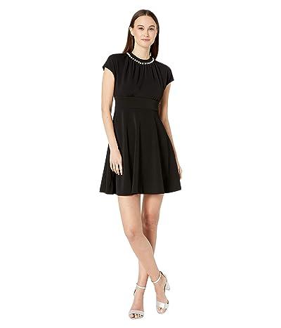 Kate Spade New York Pearl Pave Crepe Dress (Black) Women