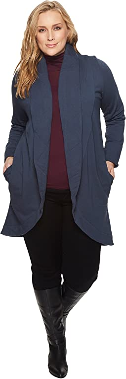 B Collection by Bobeau - Plus Size Peri Brushed French Terry Jacket