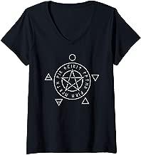 Womens Wiccan Wicca Pentagram Five Element V-Neck T-Shirt